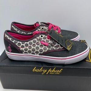 Baby Phat Porter BP Chambray Women Shoes Black 7.5